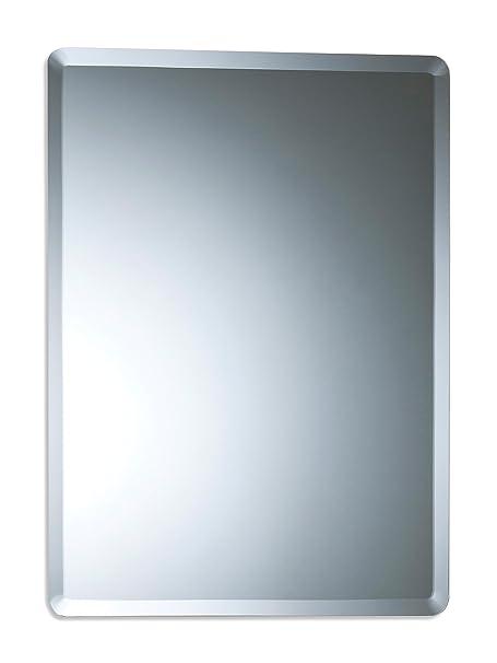bathroom wall mirror simple elegant rectangular 60cm x 45cm plain rh amazon co uk