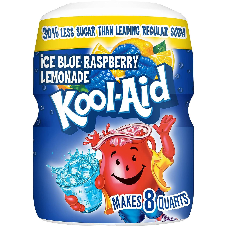 Kool-Aid Blue Raspberry Lemonade Flavored Caffeine Free Powdered Drink Mix (20 oz Canister)