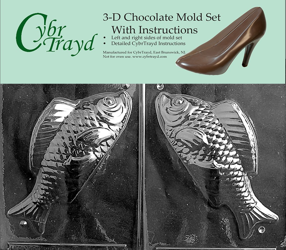 Large Dessert Fish Includes 3d Chocolate Molds Instructions And 2 Mold Kit Cybrtrayd N031ab Chocolate Candy Mold