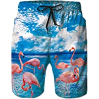 5a0fb93990ef4 Goodstoworld Men's Cool Swimtrunks Quick Dry 3D Printed Casual Hawaiian  Mesh Lining Beach Board Shorts with