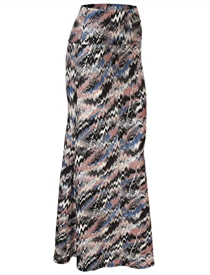 f1ccfcd5303 FHnLove Women s Maxi Skirt Pink Blue Black S M at Amazon Women s Clothing  store