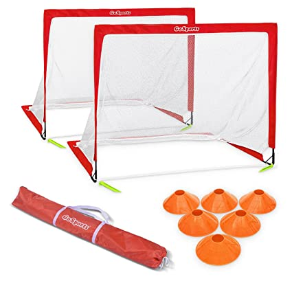 d2927b3b9 Amazon.com : GoSports Premier Portable Pop Up Soccer Goals for Backyard -  Kids & Adults - 4' x 3' Soccer Goal Set : Sports & Outdoors