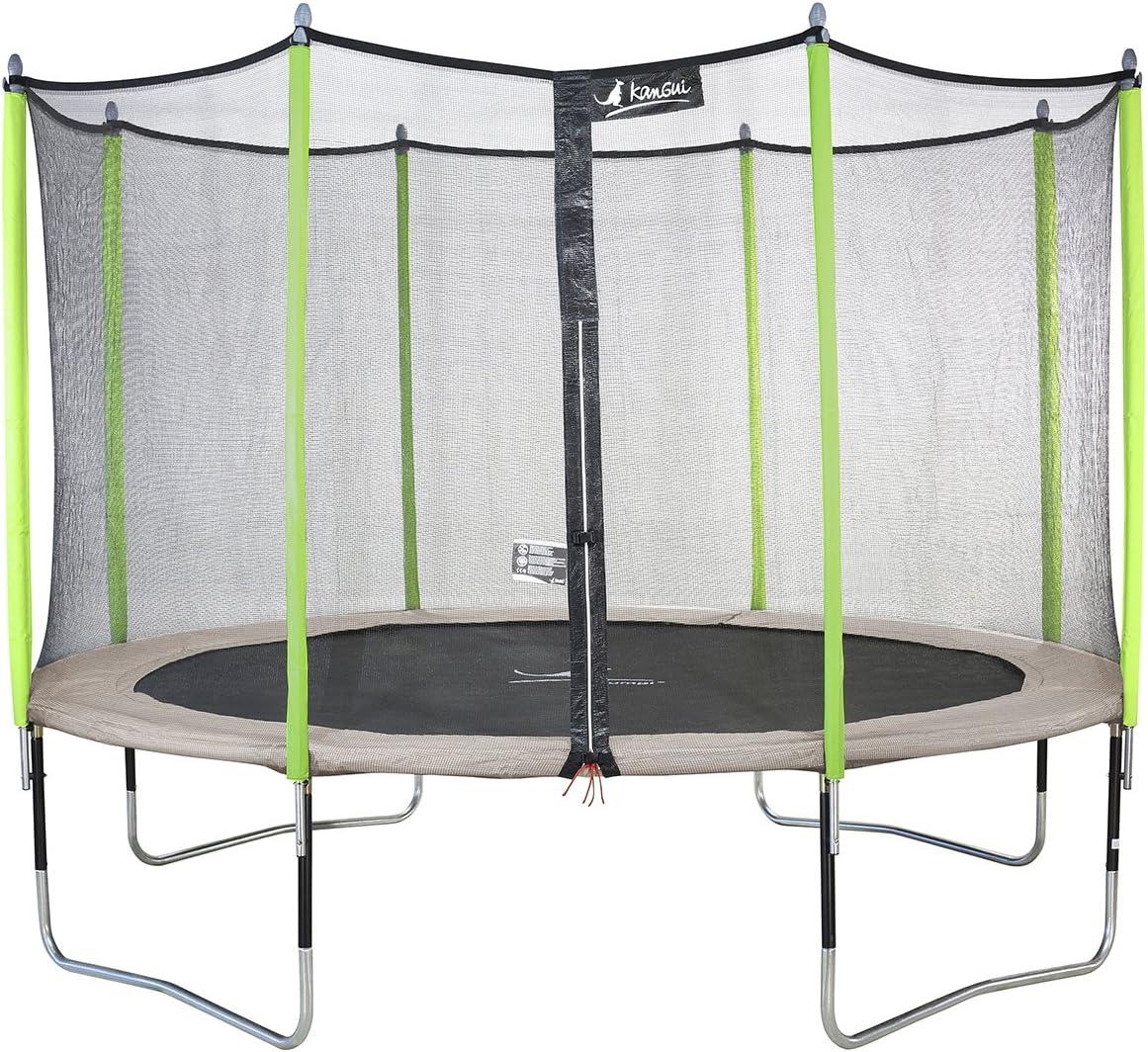 KANGUI–Cama elástica de jardín de 426cm + Red de Seguridad Jumpi Zen 430. Trampolín Certificado por el critt Sport & Loisirs