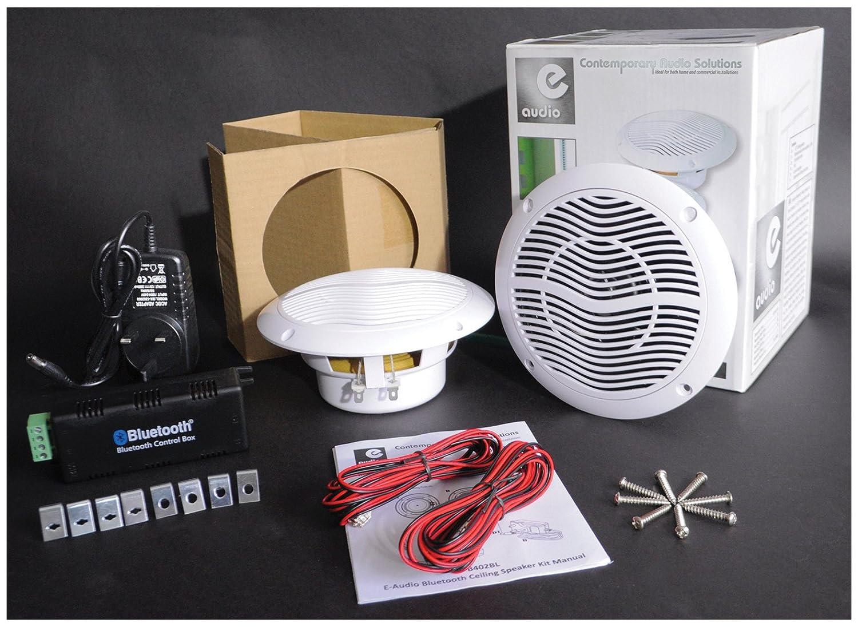 Hp Bluetooth Salle De Bain ~ kit haut parleurs de plafond avec connexion bluetooth amazon fr