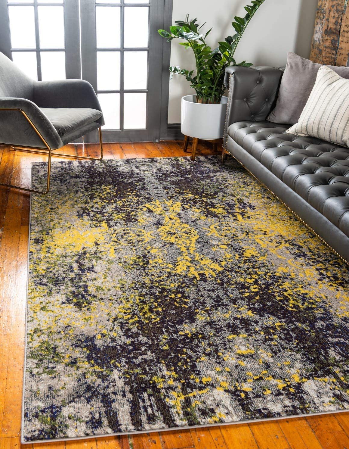 Unique Loom Estrella Collection Modern Abstract Multi Area Rug 9 0 x 12 0