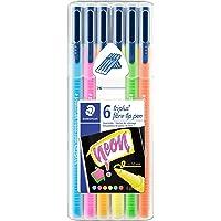 Staedtler 323 Sb6Cs1 Triplus Color Üçgen Keçeli Kalem Neon Renk 1.0 Mm 6 'lı Set