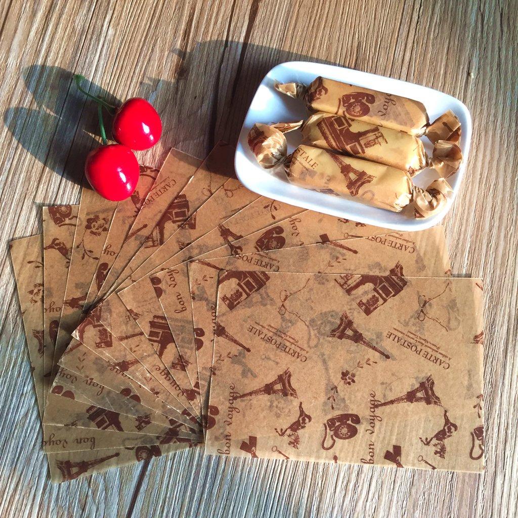 Albero 50pcs Carta Cerata Per La Decorazione Domestica Cibo Impermeabile Per Cucinare Biscotti Caramelle Olio Prova Torrone