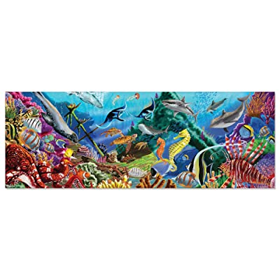 Melissa & Doug Underwater Oasis Jumbo Jigsaw Floor Puzzle (200 pcs, over 4 feet long): Game: Toys & Games