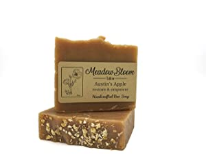 HUNTER CATTLE CO. EST'D 2004 HC Meadow Bloom Tallow Bar Soap - Apple 2 Pack - Made with All Natural 100% Grass Fed Tallow Handmade Soap Bar - Great for Face or Body Soap