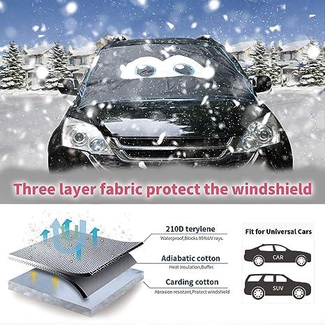 Wanoos - Protector magnético para parabrisas de coche, impermeable, resistente al viento, hielo