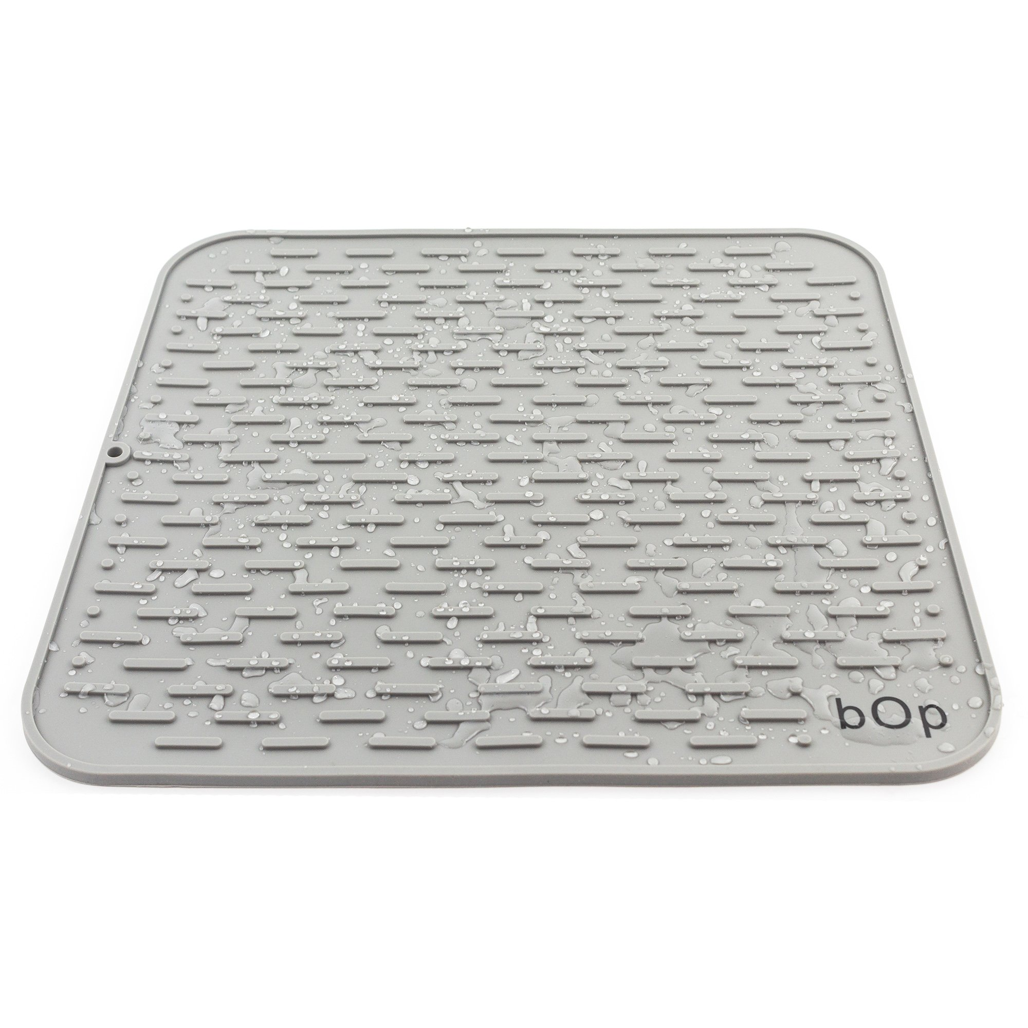 "XXL 22""x18"" Gray Silicone Dish Drying Mat 