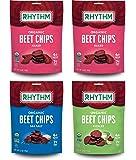 Rhythm Superfoods Beet Chips, Variety Pack, Naked/Sea Salt/Pickled, Non-GMO, 1.4 Oz (Pack of 4), Vegan/Gluten-Free Superfood Snacks
