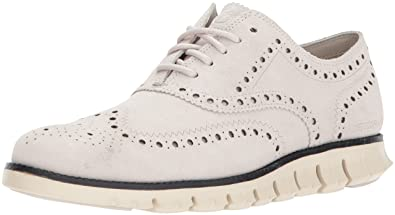 4d0a6422322 Cole Haan Men s Zerogrand Wing OX Suede Oxford Pumice Stone Ivory 9.5  Medium US