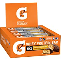 12-Pack Gatorade Whey Protein Recover Bars Chocolate Caramel