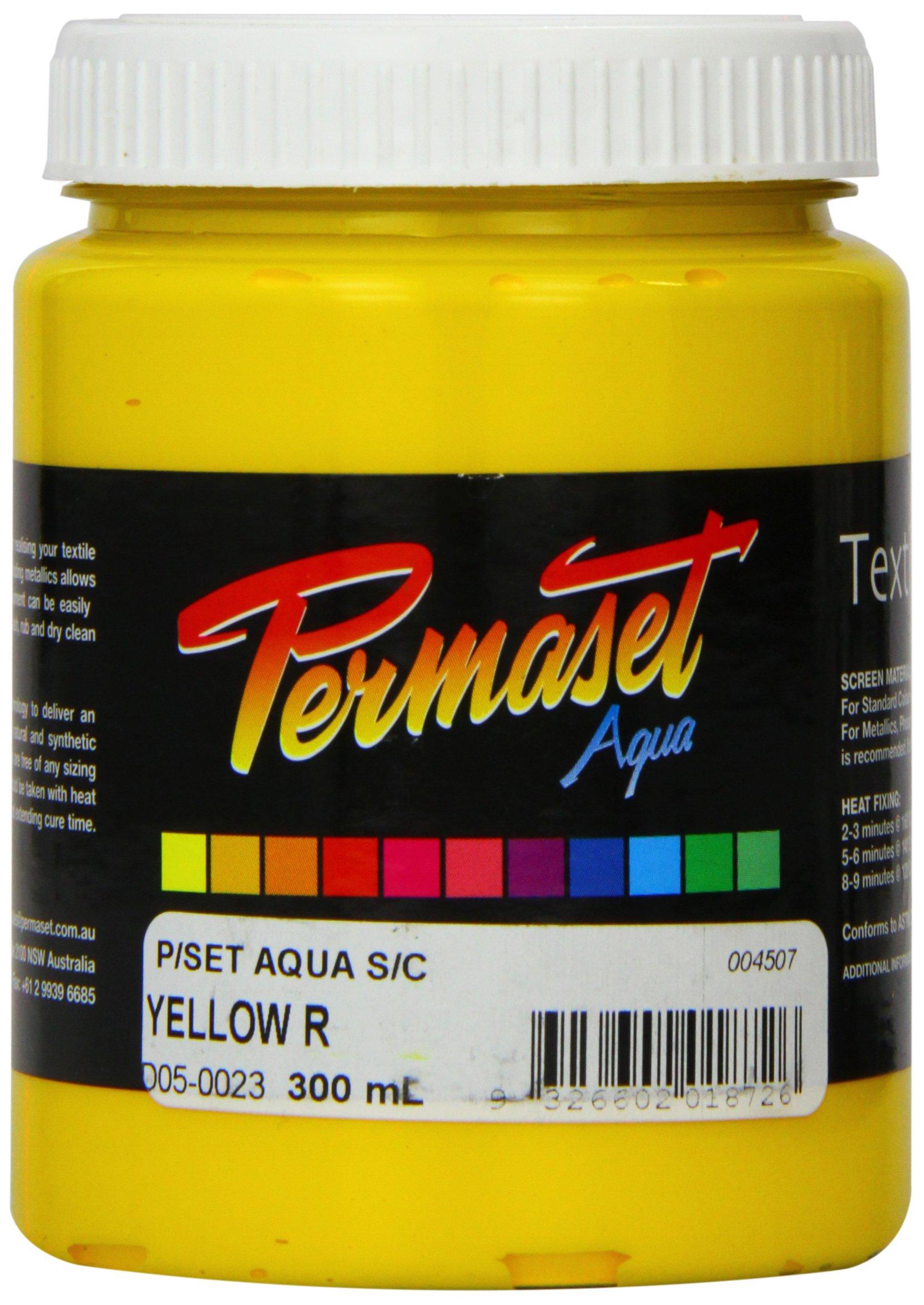 Permaset Aqua Supercover 300ml Fabric Printing Ink - Yellow by Permaset