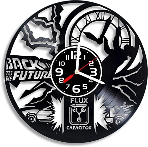 Back to the Future vinyl wall clock