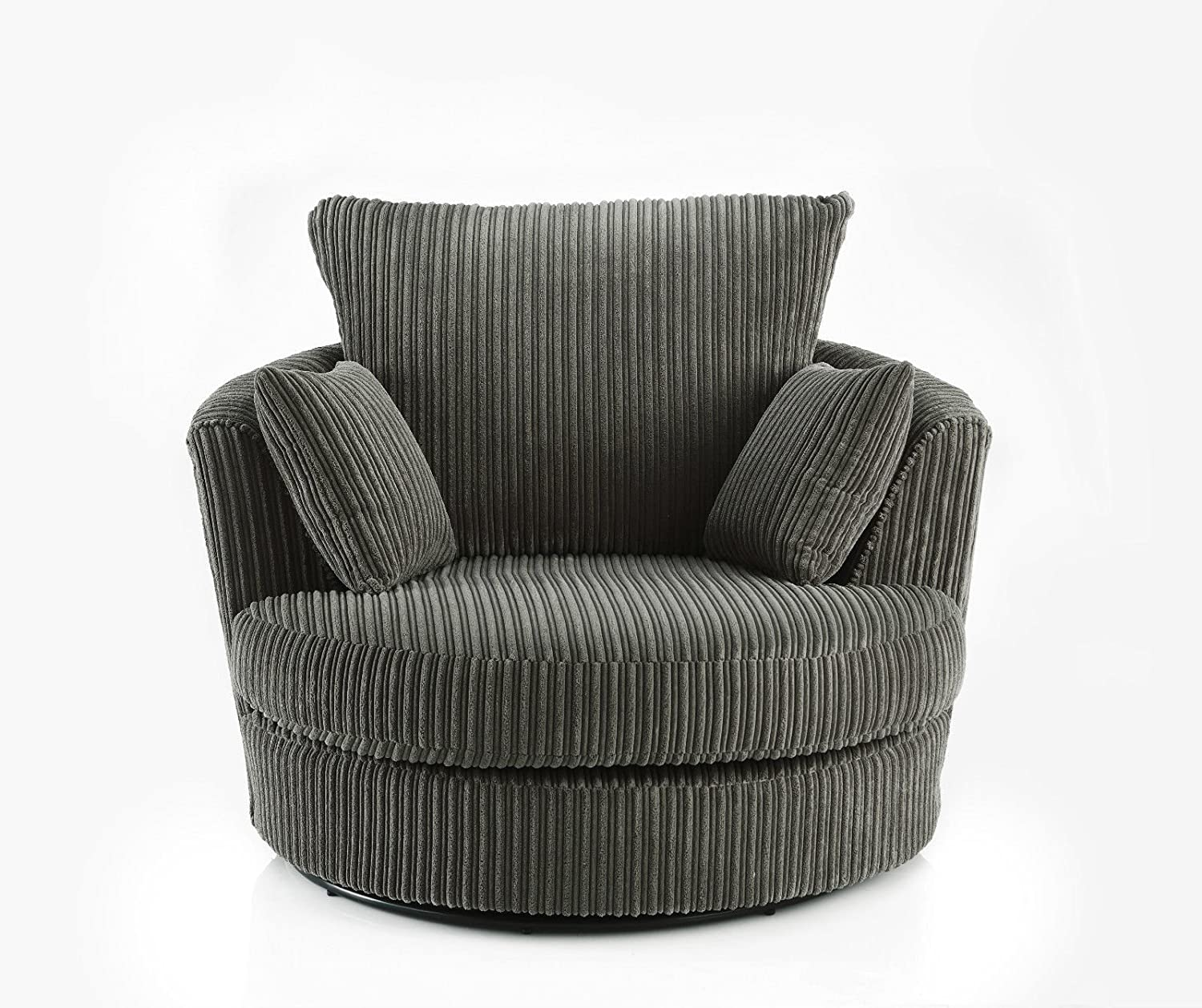 round large best chair fabric scatter swivel cuddle decoration designer corduroy home leather gallery chenille