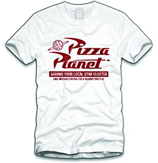 Disney Mens Toy Story Pizza Planet Logo T Shirt Amazonco