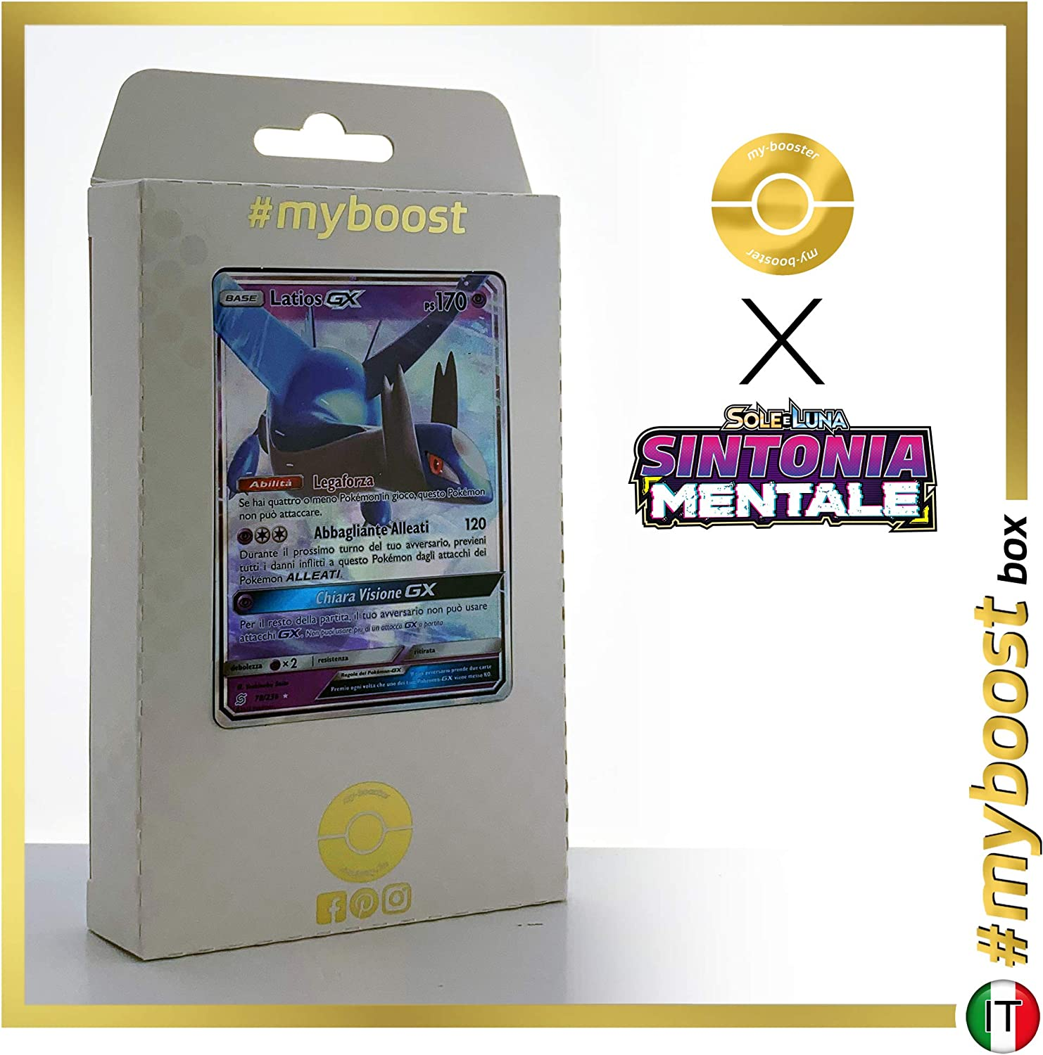 Latios-GX 78/236 - #myboost X Sun & Moon 11 Unified Minds - Coffret de 10 Cartes Pokémon Aglaises: Amazon.es: Juguetes y juegos