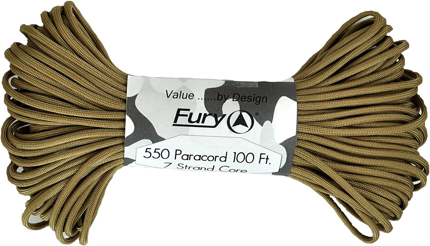 Fury Tactical 550-Pound Type III 7 Strand Core Paracord