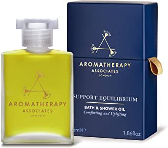 Aromatherapy Associates Support Equilibrium Bath and Shower Oil 1.86Floz, an uplifting blend of Geranium, Rose and Frankincense essential oils to help lift your spirits. Emotionally balancing.