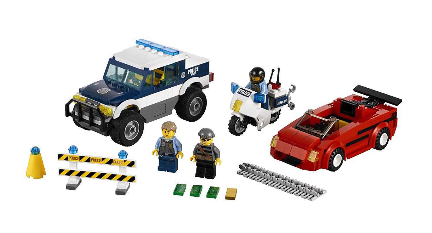 amazoncom lego city police high speed chase building set 60007 discontinued by manufacturer toys games