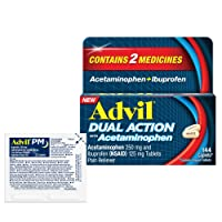 Advil Dual Action Coated Caplets with Acetaminophen and Ibuprofen, Assortment, 146 Count