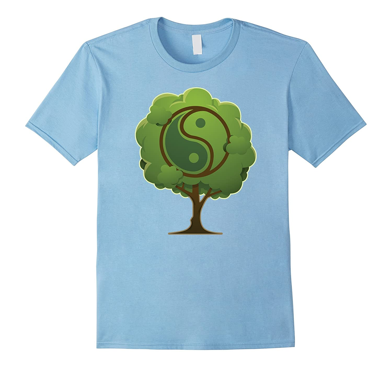 YinYang T-shirt, Taoism, Spiritual, Buddha Tree, Zany Brainy-CL