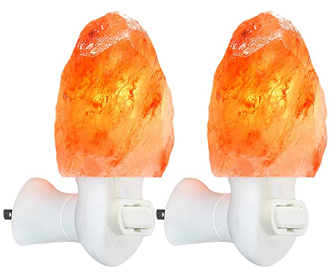 Amazon.com: 2 Pack Himalayan Salt lamp Night Light Salt Rock ...