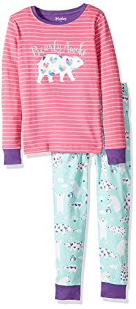 78ff78ed11e1 Amazon.com  Hatley Girls  Organic Cotton Long Sleeve Applique Pajama ...