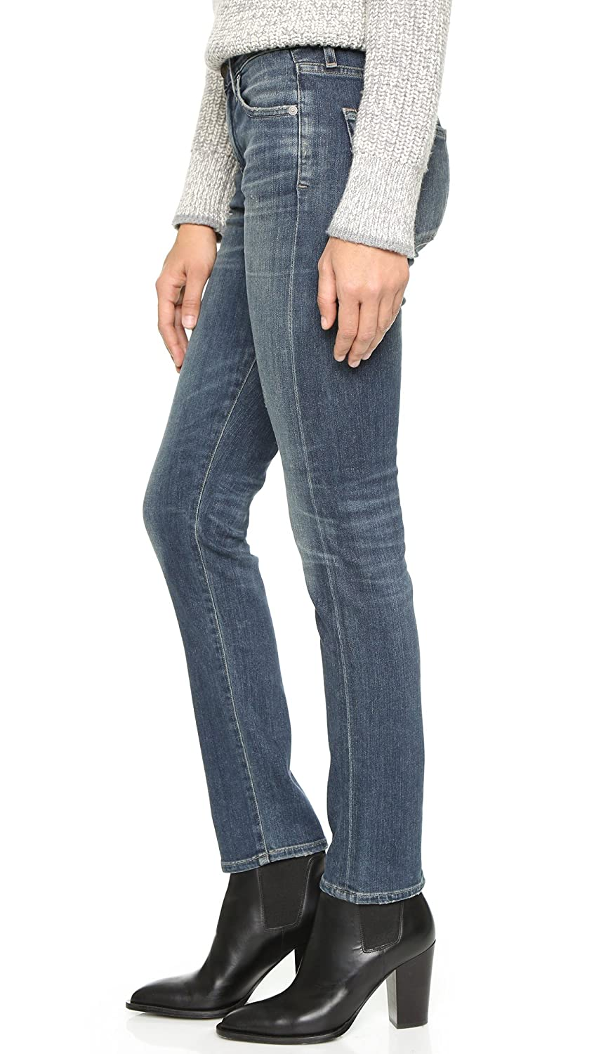 25 Citizens of Humanity Agnes Mid-Rise Slim Straight Jeans Delta Dawn