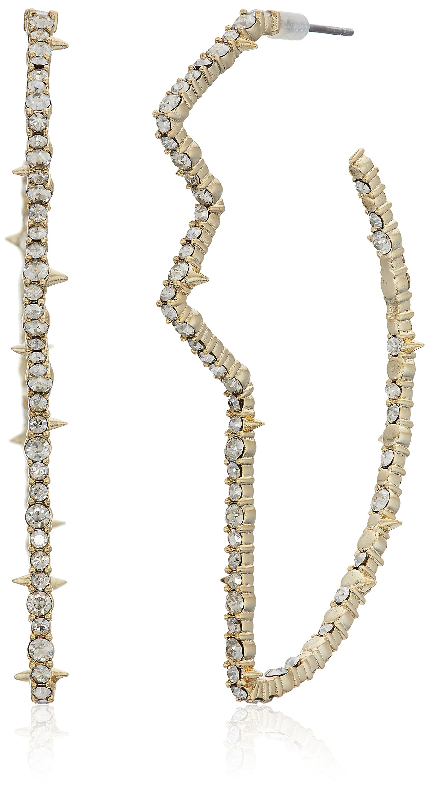 Alexis Bittar Crystal Encrusted Abstract Tulip Hoop Post Earrings, 10K Gold, One Size