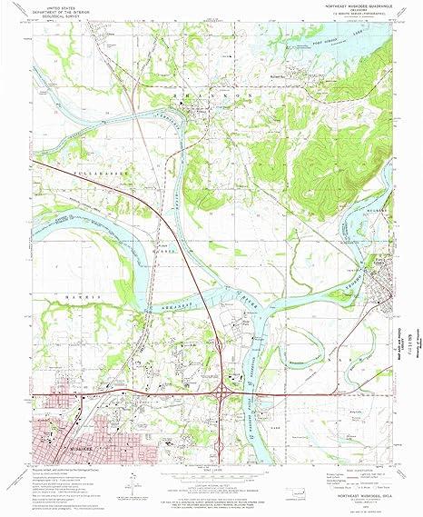 Amazon Com Yellowmaps Northeast Muskogee Ok Topo Map 1 24000