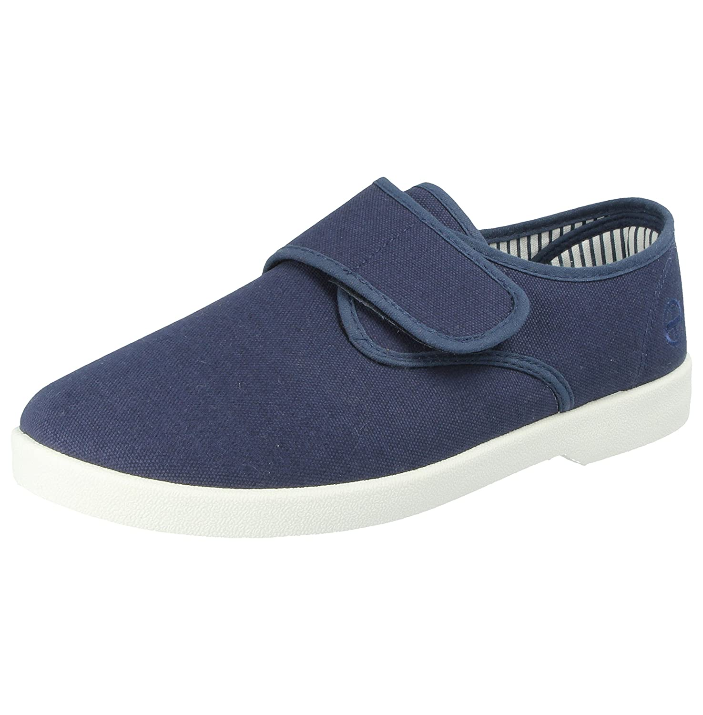 Dr Keller - Zapatillas de Lona para Hombre, Informales, sin Cordones, Anchas, cómodas, para Bares, Zapatillas de Deporte, Zapatos Planos - Tallas del Reino Unido 6-11