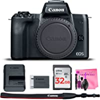 Canon EOS M50 Mirrorless 4K Digital Camera (Body Only) Wi-Fi Enabled ESSENTIAL Camera Works Accessory Kit