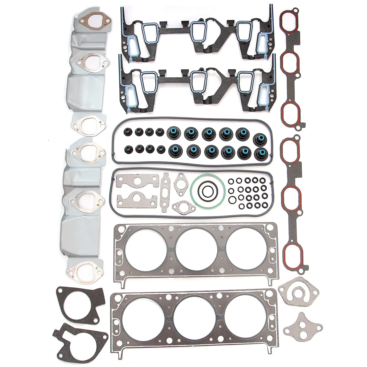 SCITOO Replacement Head Gasket Kits Chevrolet Impala Buick Pontiac Oldsmobile 3.1L  3.4L Engine Head Gaskets Set Kit 058048-5206-1450301