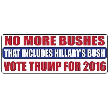 Donald trump for president anti hillary clinton and jeb bush bumper sticker decal window