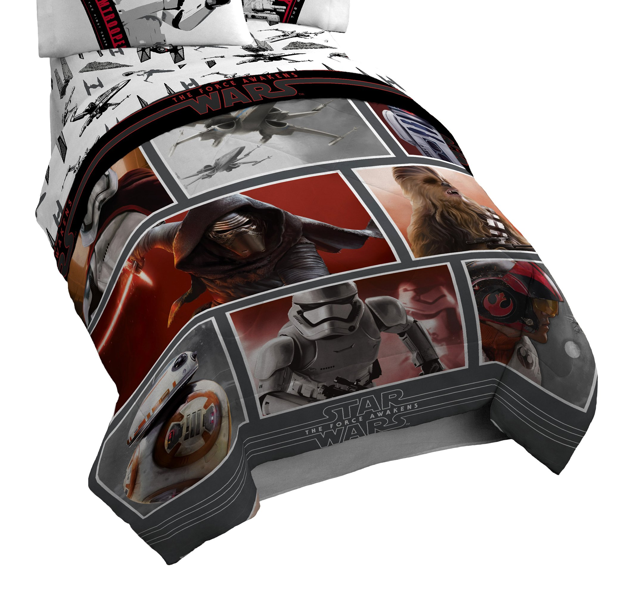 Star Wars Ep7 Live Action Red 64'' x 86'' Twin Comforter by Star Wars