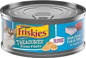 Purina Friskies Tasty Treasures Adult Wet Cat Food - (24) 5.5 oz. Cans