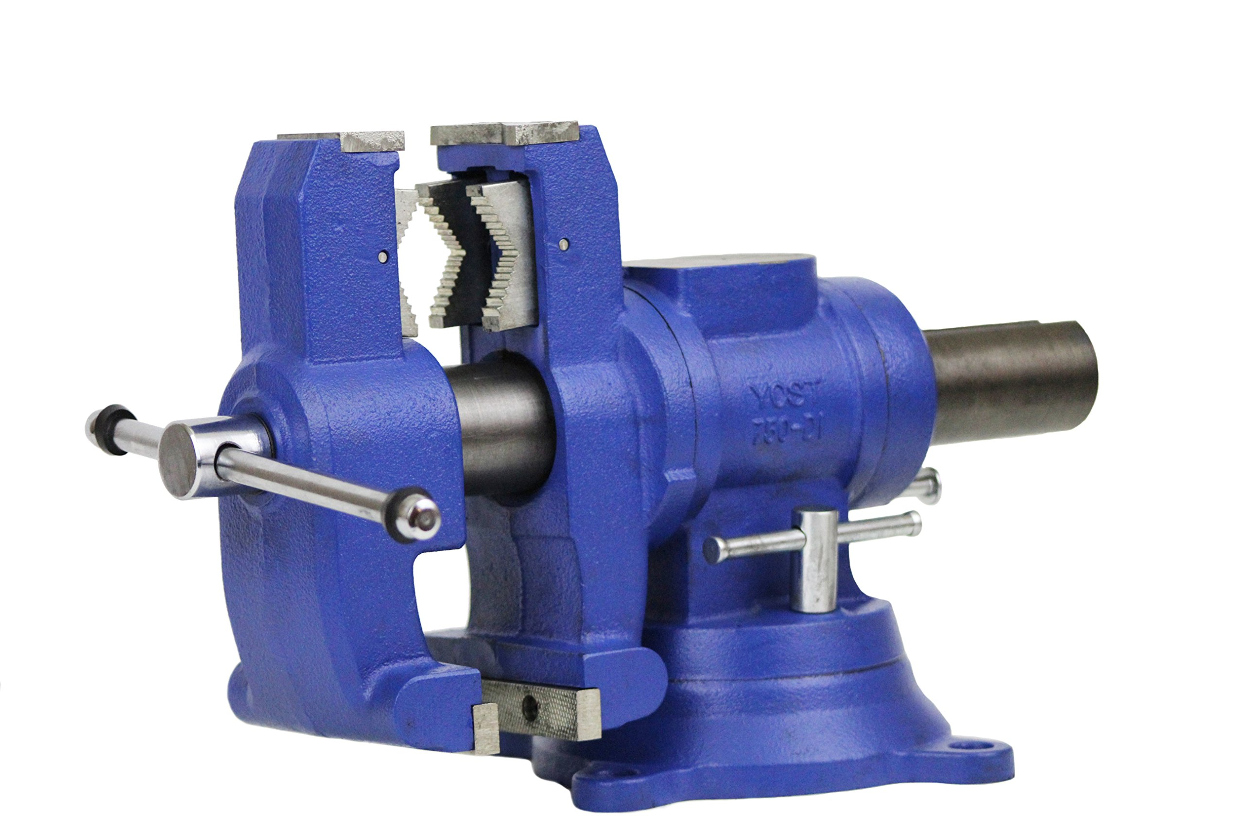 Yost Vises 750-DI 5'' Heavy-Duty Multi-Jaw Rotating Combination Pipe and Bench Vise with 360-Degree Swivel Base and Head by Yost Tools (Image #2)