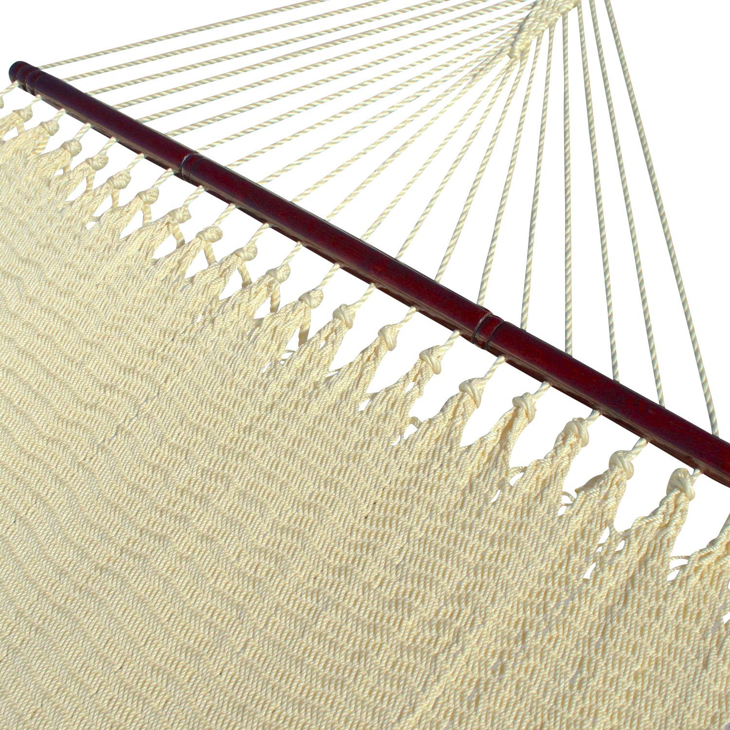Caribbean Hammocks Double 48 inch – Soft-Spun Polyester – Cream