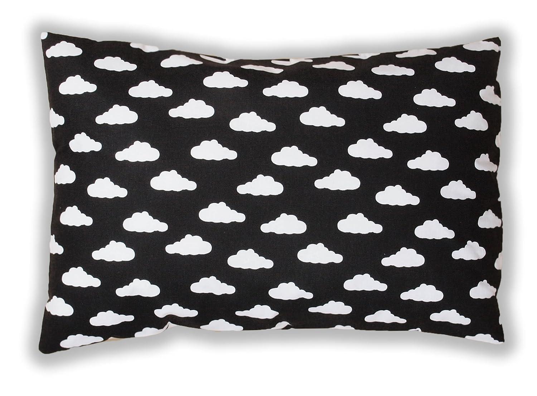 Amilian/® Dekokissen Kissenbezug Kissen 40cm x 60cm Wolken Schwarz