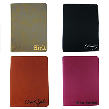Monogrammed Portfolio With Zipper Custom Personalized Padfolio Pad Holder