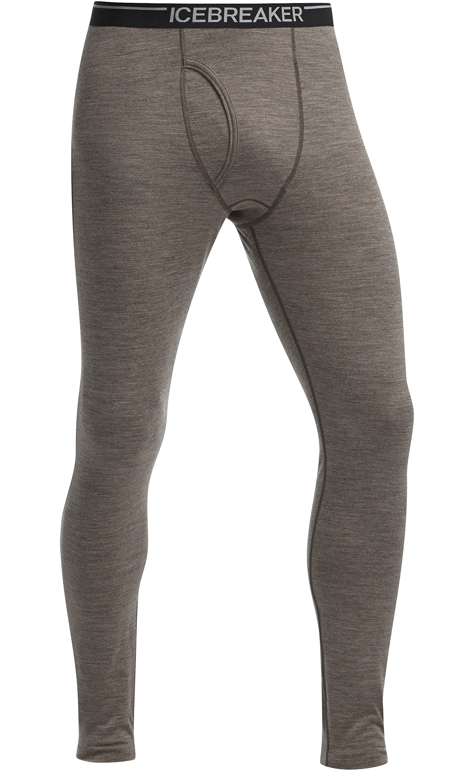 Icebreaker Men's Oasis Leggings with Fly, Trail Heather, X-Large