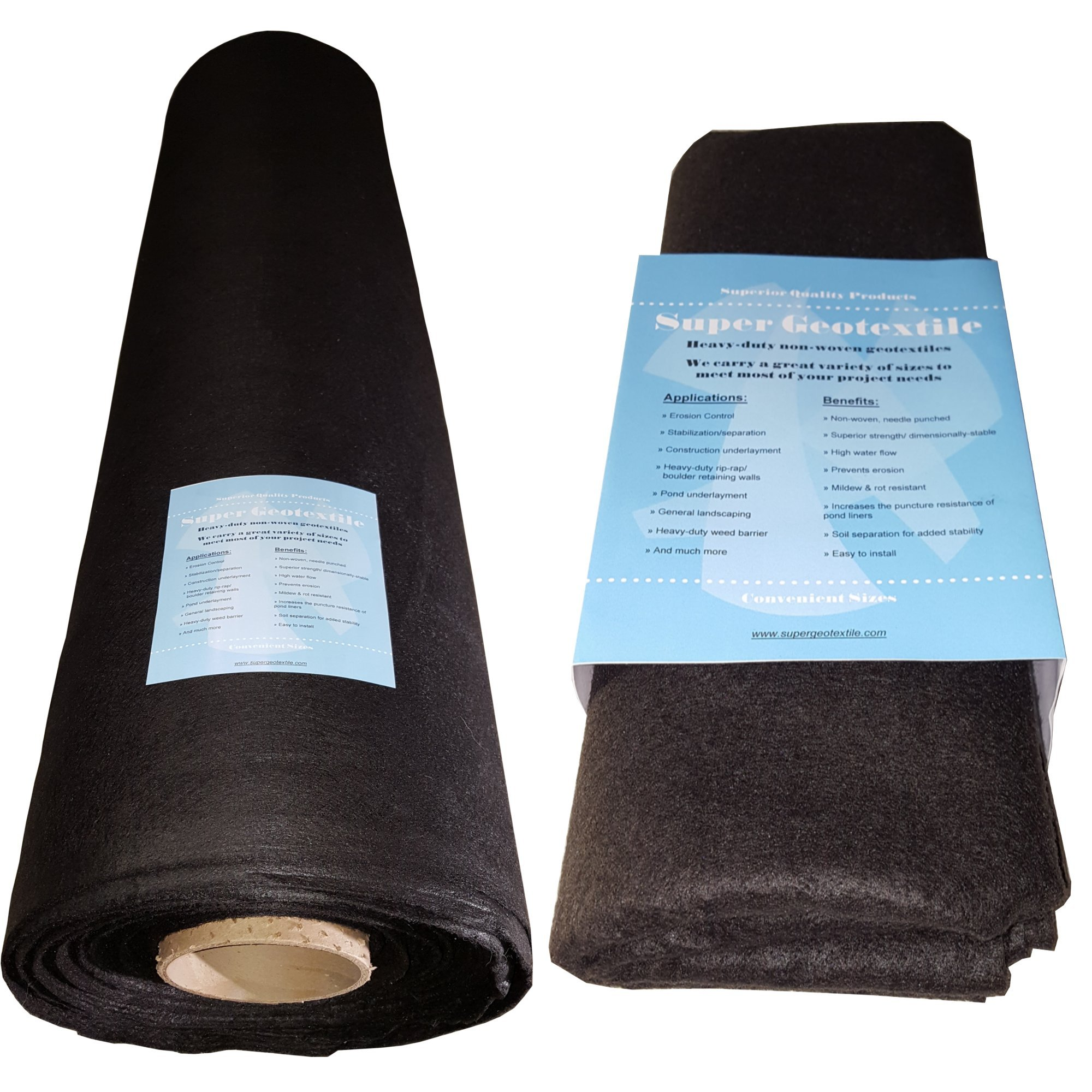 6oz Geotextile for Landscaping, Underlayment, Erosion Control, Construction Projects and more (4X100) by Super Geotextile