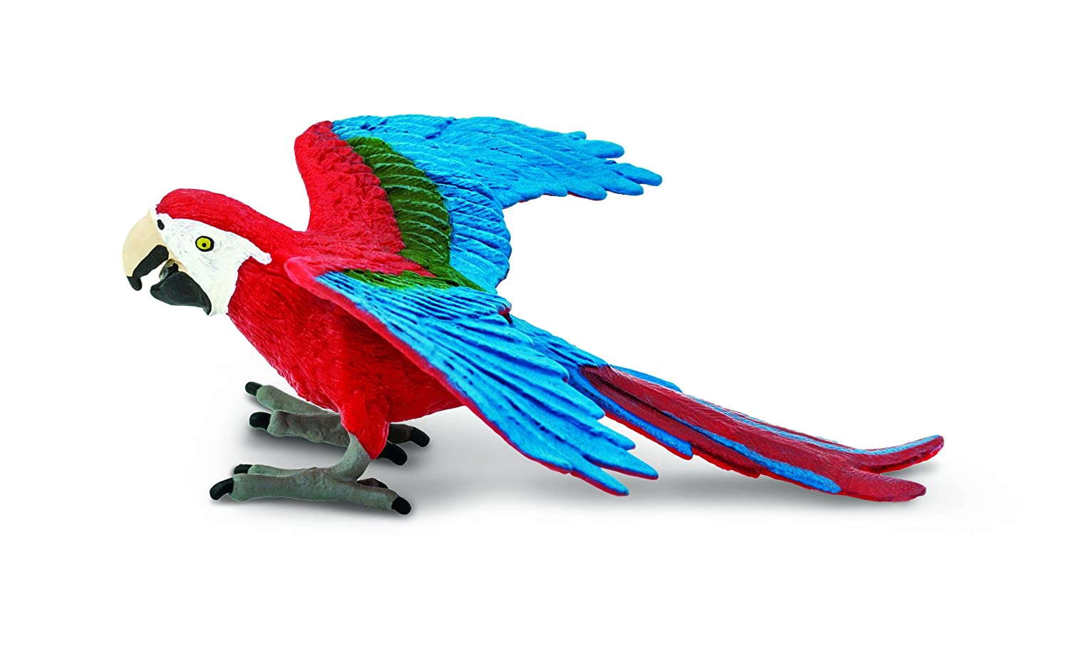 For Ages 3 and Up 263929 Quality Construction from Safe and BPA Free Materials Green-Winged Macaw Safari Ltd Wings of the World Realistic Hand Painted Toy Figurine Model