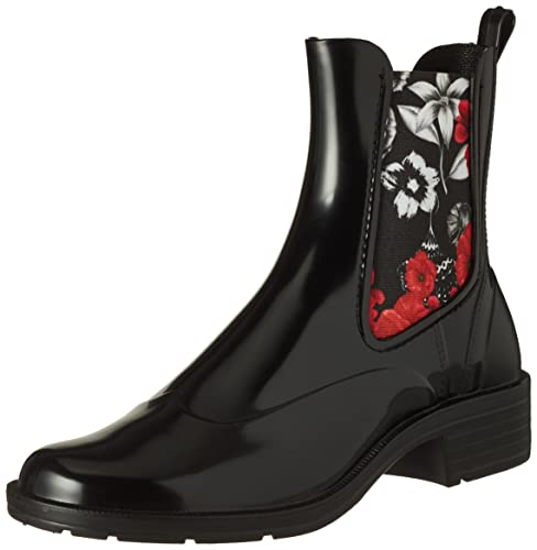 Stivali amp;Red Donna Nero Rain Desigual Bn Boot Shoes Mid Chelsea nUZ78x