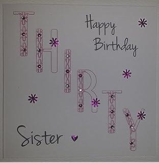 Happy Birthday Card Sister 30th