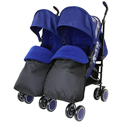 Zeta Citi doble silla de paseo Buggy carrito de bebé - azul ...