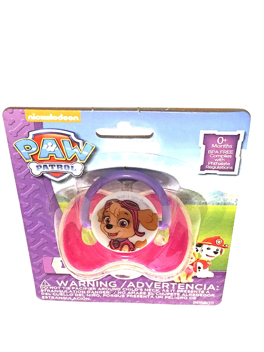 Amazon.com : Paw Patrol Skye Pacifier with Cover : Baby